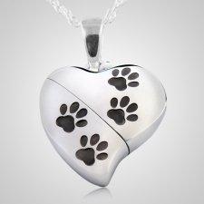 Paws Heart Keepsake Pendant