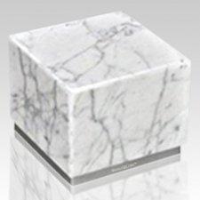 Peace Bianco & Silver Stone Pet Urn