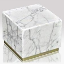 Peace Bianco Stone Pet Urn