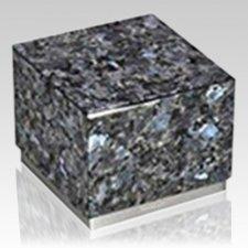 Peace Blue & Silver Stone Pet Urn
