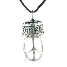 Peace Pet Ash Urn Necklace