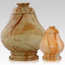 Peace Teak Marble Cremation Urns