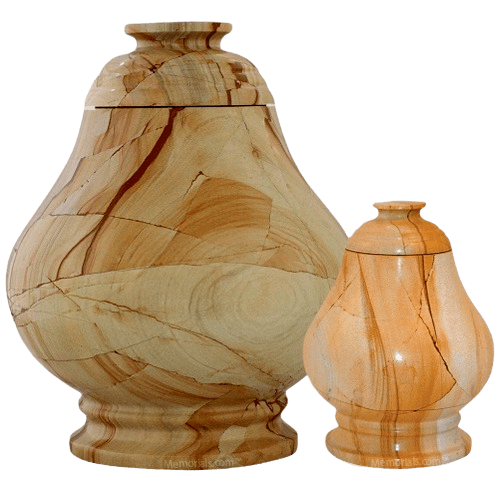 Peace Teak Marble Cremation Urns