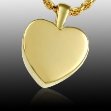 Peaceful Heart Cremation Pendant IV