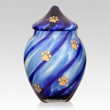 Peaceful Paws Glass Pet Urn