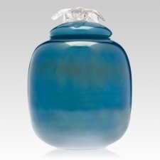 Peaceful Sea Glass Cremation Urn