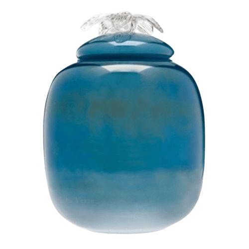 Peaceful Sea Glass Cremation Urn