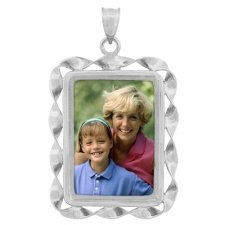 Peaceful Silver Photo Pendant