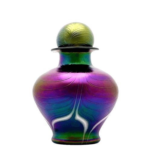 Peacock Glass Cremation Urn