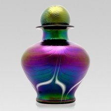Peacock Glass Cremation Urns