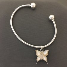 Pearl Butterfly Cremation Bangle