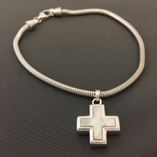 Pearl Cross Cremation Bracelet