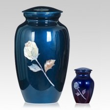 Pearl Rose Metal Cremation Urns