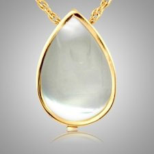 Pearl Tear Drop Keepsake Pendant II