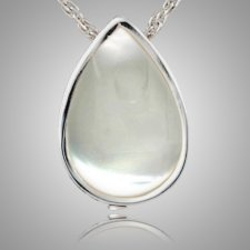 Pearl Tear Drop Keepsake Pendant