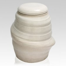Pearl White Ceramic Urn