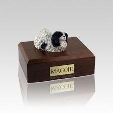 Pekingese Black & White Small Dog Urn