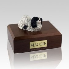 Pekingese Black & White Dog Urns