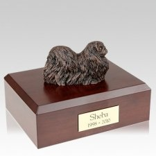Pekingese Bronze X Large Dog Urn