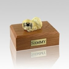 Pekingese Laying Medium Dog Urn