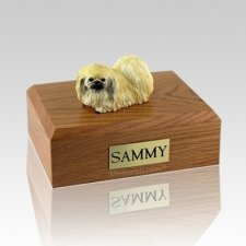 Pekingese Laying X Large Dog Urn