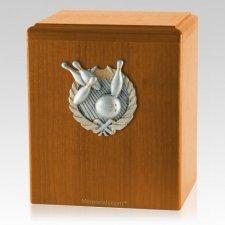Perfect Strike Oak Cremation Urn