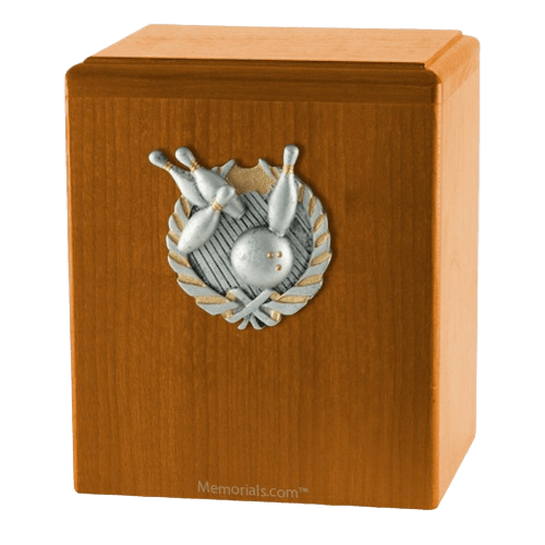 Perfect Strike Oak Cremation Urn