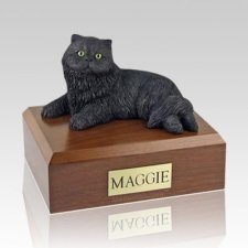 Persian Black Large Cat Cremation Urn