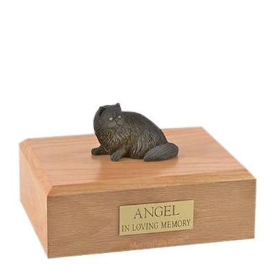 Persian Black Laying Large Cat Cremation Urn