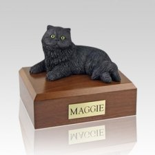 Persian Black Medium Cat Cremation Urn