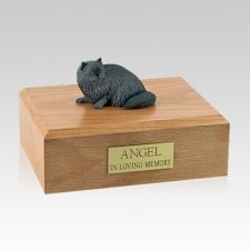 Persian Grey Laying Large Cat Cremation Urn