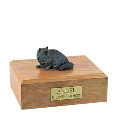 Persian Grey Laying Large Cat Cremation Urn