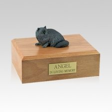 Persian Grey Laying Medium Cat Cremation Urn