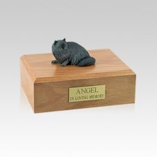 Persian Grey Laying Small Cat Cremation Urn