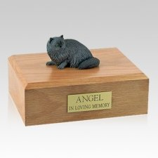 Persian Grey Laying Cat Cremation Urns