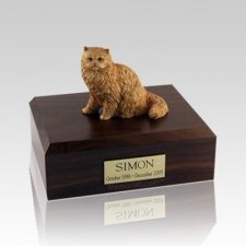 Persian Orange Medium Cat Cremation Urn