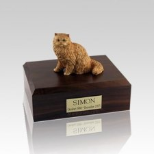 Persian Orange Small Cat Cremation Urn