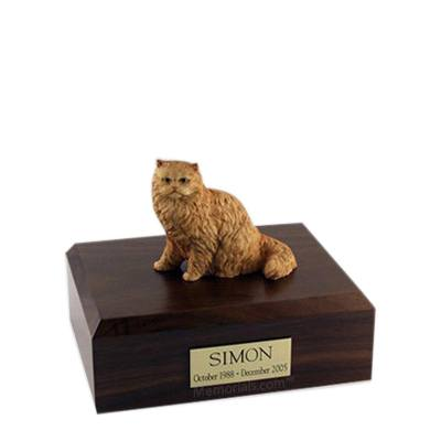 Persian Orange Small Cat Cremation Urn