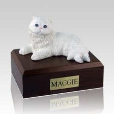 Persian White Large Cat Cremation Urn