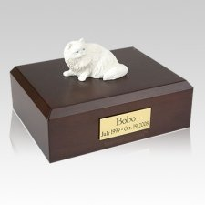 Persian White Laying X Large Cat Cremation Urn