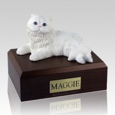 Persian White Cat Cremation Urns