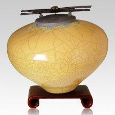 Raku Persimmon Cremation Urns