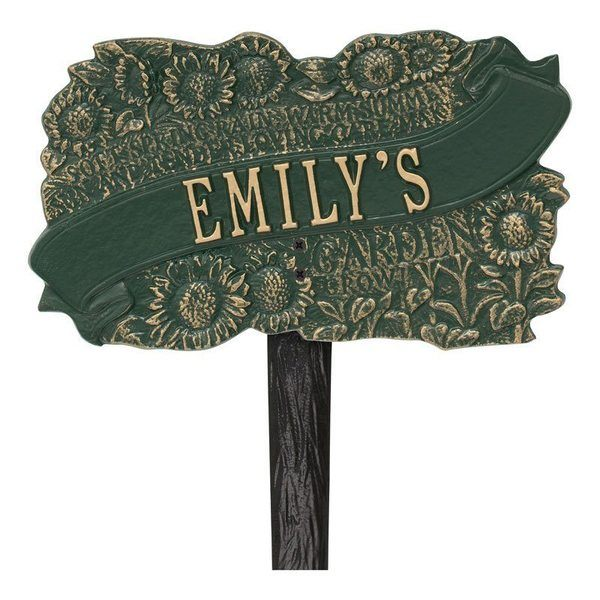 Personalized Sunflower Dedication Plaques