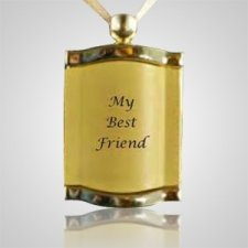 Pet Gold Picture Pendant