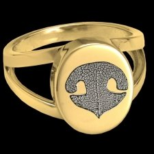 Pet Nose 14k Gold Cremation Print Ring