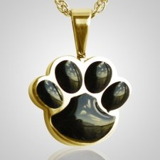 Pet Paw Black Cremation Keepsake II