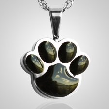 Pet Paw Black Cremation Keepsake