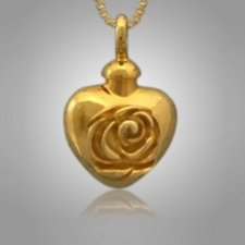 Pet Rose Heart Cremation Pendant II