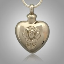Pet Tulip Heart Cremation Pendant