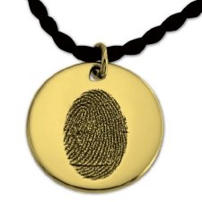 Petite Circle 14k Gold Print Keepsake